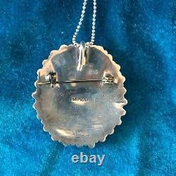 Collier À Cluster Zuni / Broche En Argent Sterling Turquoise Point D'aiguille Vintage