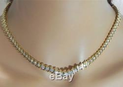 Collier Avec Graduation 16 En Or Jaune 18 Carats Sur Diamants Vintage Des Années 1960 18ct