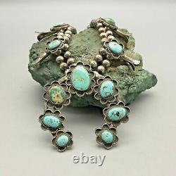 Collier Traditionnel Vintage De Fleur De Courge De Style Navajo
