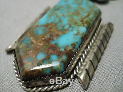 Collier Vintage En Argent Sterling Turquoise Et Opulent Vintage Navajo Royston