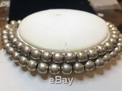 Collier Vintage Perles En Argent Sterling Taxco Td-29 Fabriqué Au Mexique
