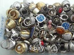 D 100 Gram Assortiment Sterling 925 Silver Ring Lot Vente En Gros Vintage-now
