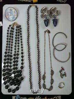 Domaine Énorme Bijoux Lot D'argent En Or 14k Sterling Gemstone Brighton Givenchy Vtg