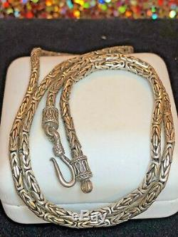 Domaine Vintage Collier Chaîne En Argent Sterling Byzantine