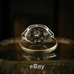 Edwardian Vintage Art Déco Bague De Fiançailles De Mariage 2.5 Ct Diamant Or 14k Plus