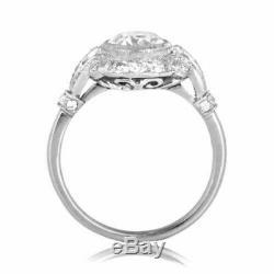 Engagement Edwardian Vintage Diamond Ring Art Deco Mariage Bague En Or 14k Plus
