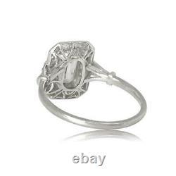 Engagement Trady Milgrain Vintage Art Deco Bague 2ct Diamond 14k Or Blanc Sur