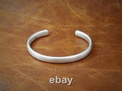 Gents Mens Vintage Matte Look Solide 925 Sterling Silver Torque Bangle Bracelet