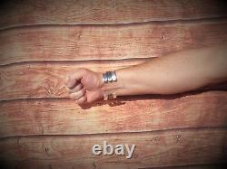 Gents Pour Homme Solid 925 Argent Look Vintage Look Torque Bangle Bracelet