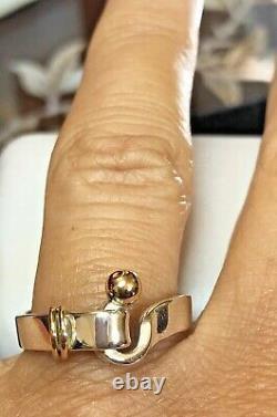 Gold & Sterling Silver Ring Designer Vintage Tiffany & Signée Par La Succession Co