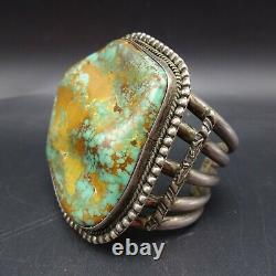 Huge 175g Vintage Navajo Sterling Argent Royston Turquoise Cuff Bracelet
