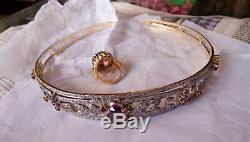 Inspiration Vintage / Victorienne 8.20ct. Couronne De Diadème Antique En Diamant De Taille Rose