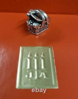 James Avery Vintage & Very Rare Retired Sterling Silver Picnic Basket Charme