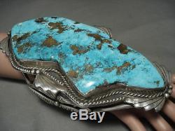 Le Meilleur Et Le Plus Grand Bracelet Vintage Argent Navajo Turquoise Sur Internet