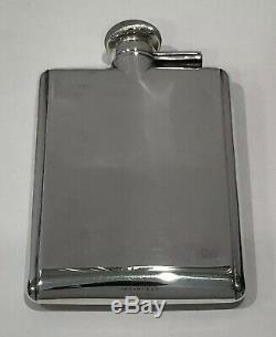 Menthe! Flacon De Poche À Liqueur Vintage Tiffany & Co. En Argent Sterling, Rare, Avec Whisky