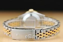 Mesdames Rolex Authentiques Quickset Deux Tons Or Jaune 18 Carats De Diamants Et Montres En Acier