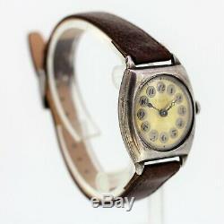 Montre-bracelet Et Montre Signée Vintage Gents En Argent Sterling À Motif Rolex En Argent Sterling