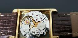 Must De Cartier Tank Or Sur Argent Vintage Main Wound Montre. Cartier Box