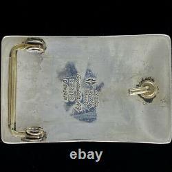 Navajo Sterling Silver Shades Scottsdale Ouest Dale Begaye Vintage Boucle De Ceinture