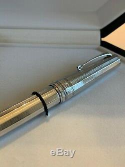Omas Paragon Sterling Fountain Pen Avec Bouteille D'encre. Tout Neuf Jamais Utilisé. Ancien