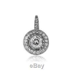 Or Blanc De 14 Carats Sur Des Boucles D'oreilles Antiques Vintage Art Deco 4.0ctw Avec Diamants, 1920