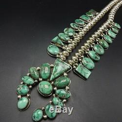 Orville Tsinnie Vintage Navajo Collier Fleur De Courge Turquoise Turquoise