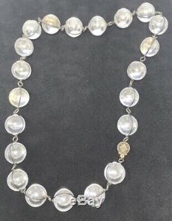 Pools Vintage Of Light En Argent Sterling De 18 Pouces Collier Avec 21 Cristal De Roche Orbes