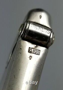 Rare Briquet Automatique Thorens En Argent Sterling 935 Fonctionne