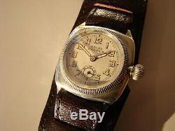 Rare Montre En Argent Sterling Rolex Oyster Pour Homme, Rare, 1930