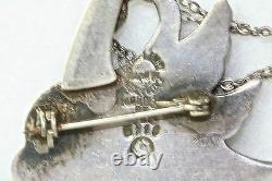 Rare Vintage Margot De Taxco Sterling Silver Swan Zeus Pin Or Helen Of Troy