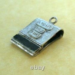 Rare Vintage Silver Ouverture Matchs Light My Fire Les Portes Sterling Charm