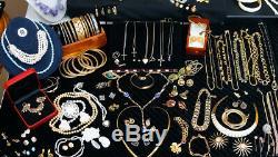 Revendeurs! Énorme Vintage Bijoux Lot Chanel Dior Juliana Or + 2,5 Lbs. Sterling