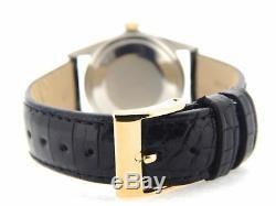 Rolex Datejust Montre En Acier Inoxydable 18k Avec Cadran Noir Et Bracelet En Or Jaune 18k Pour Homme