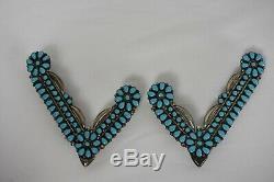Sterling Rare Vintage Turquoise Argent Collier Protecteurs Conseils