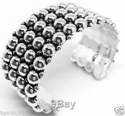 Style Vintage Taxco Mexicaine Argent 925 Perles Perle Bracelet Mexique