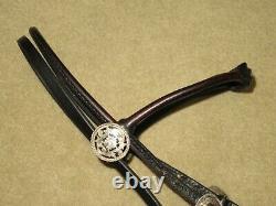 Superbe Vintage Filigree Fleming Sterling Silver Rolled Arabian Headstall Bridle