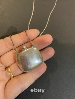 Tiffany & Co Elsa Peretti Square Collier De Bouteille 25 Sterling Silver Vintage