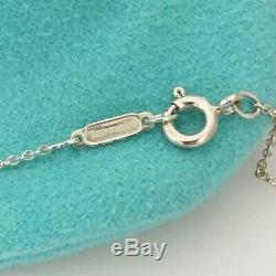 Tiffany & Co Vintage En Argent Sterling Curseur Bouffantes 3d Complète Coeur Collier De Chaîne