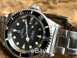 Tudor Submariner Prince Oysterdate 79090 Avec Couronne Rolex Et Étui Rolex