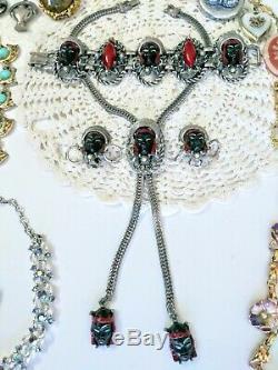 Victorienne Antique Signée Bijoux Vintage Lot Selro Art Carnegie Gf Sterling Tara