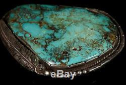Vieux Pion Vintage Navajo Huge Royston Slab Boucle De Ceinture Turquoise & Sterling