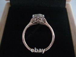 Vintage 1.25 Ct Round Cut Diamond Fiançailles Bague De Mariage 14k Rose Or Sur
