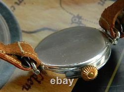 Vintage 1916 Rolex Sterling Silver Officiers Militaires Regarder