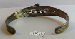 Vintage 1940 En Argent Sterling Flèche Thunderbird Indien Navajo Bracelet