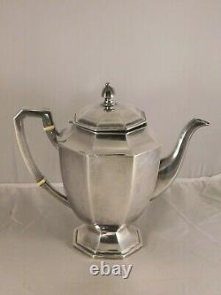 Vintage 4 Piece Asian 950 Sterling Silver Tea - Coffee Set MID Century Modern