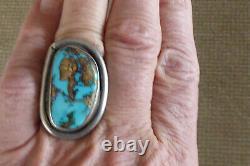 Vintage Argent Sterling Navajo Native American Large 1 5/8 Men's Ring Sz 9,75