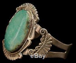 Vintage Argent Sterling Vert Turquoise Bracelet