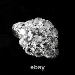 Vintage Art Déco Bague Filigree Bague De Mariage 3,20 Ct Diamant Argent 925