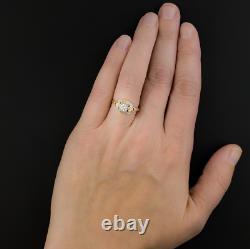 Vintage Art Déco Mariage Antique Bague 14k Or Jaune Plus De 1,50 Ct Rond Diamant