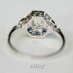 Vintage Art Déco Rétro 2.68 Ct Diamant 14k Or Sur Bague De Fiançailles